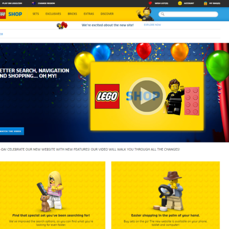 New LEGO Site -  Home Page