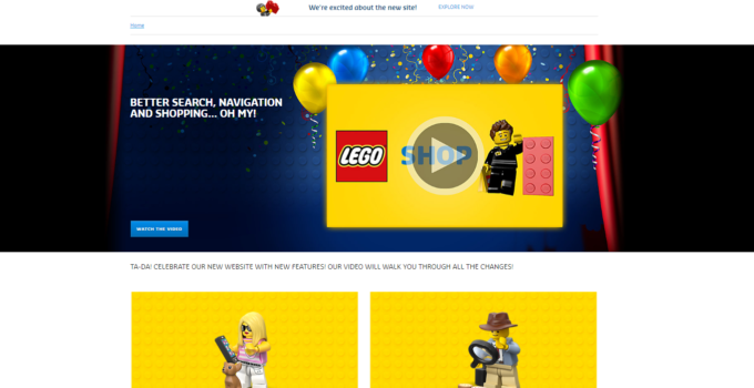 Check out the online LEGO Shop's new look!