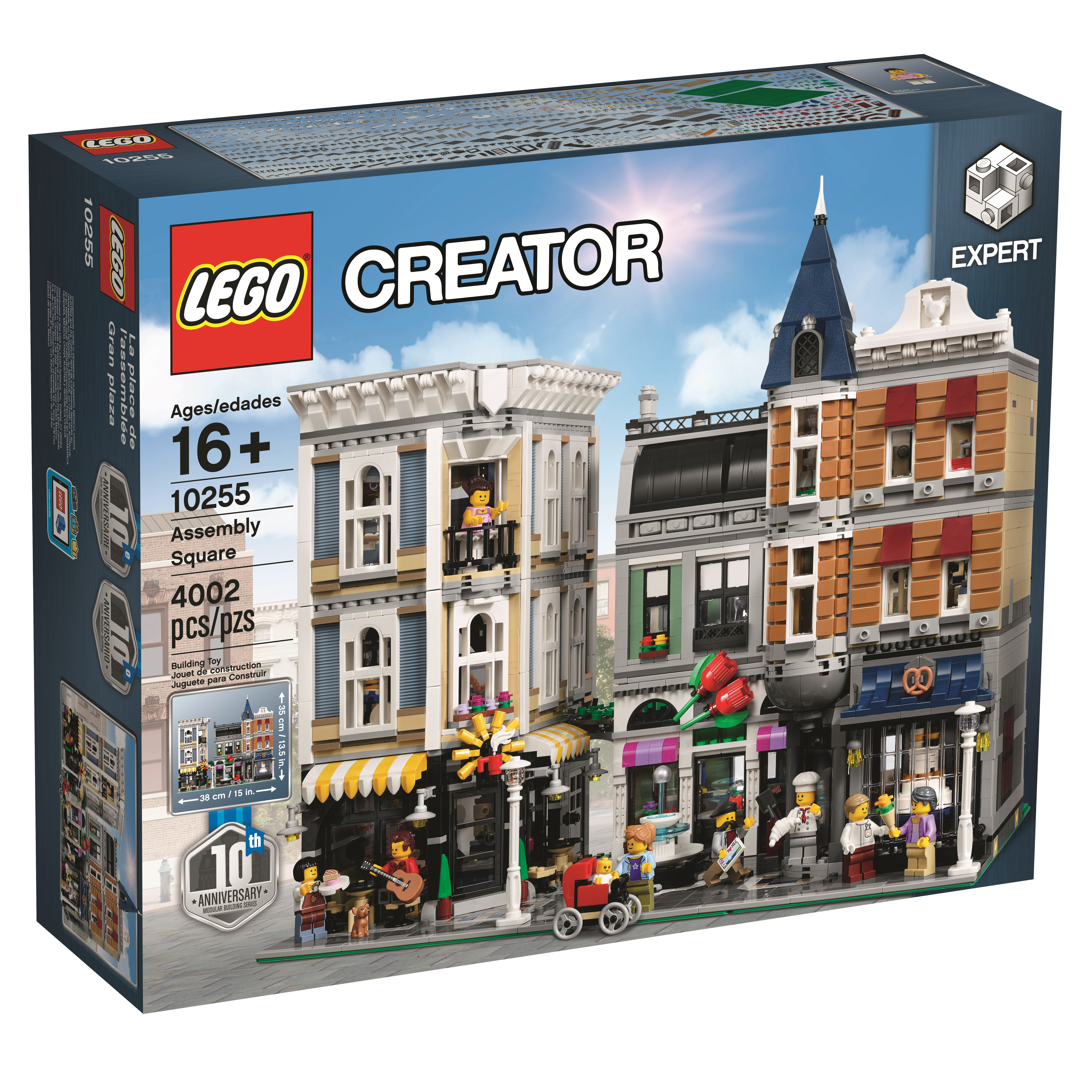 the 4 002 piece lego 10255 assembly square is a 10 year celebration of modular buildings. Black Bedroom Furniture Sets. Home Design Ideas