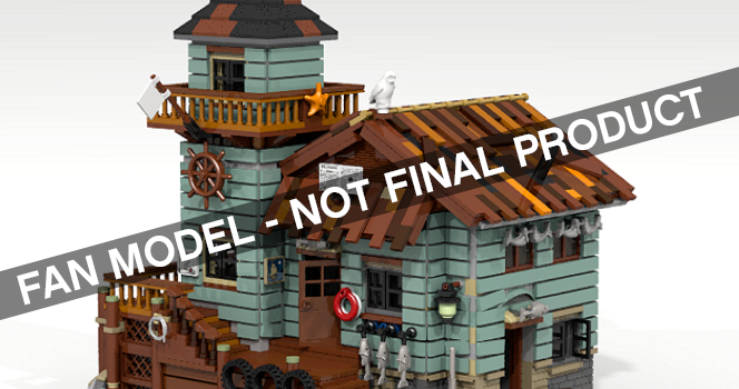 The Old Fishing Store has been announced as the next LEGO Ideas set