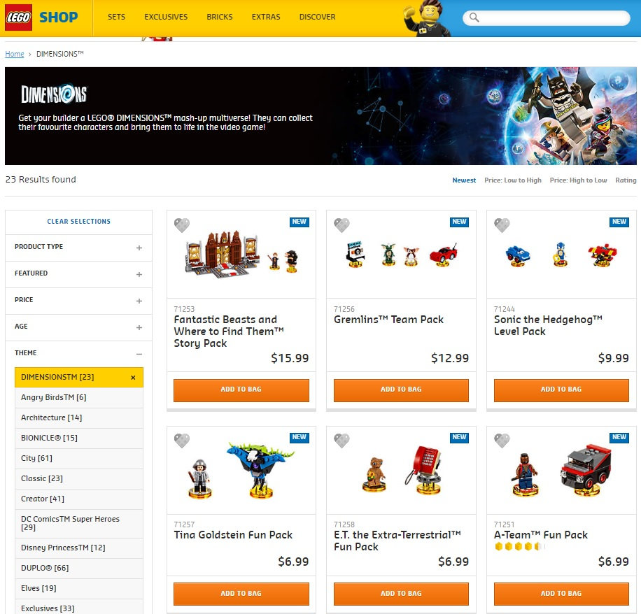 LEGO Dimensions Wave 7 are ridiculously cheap on LEGO.com [ANZ only]