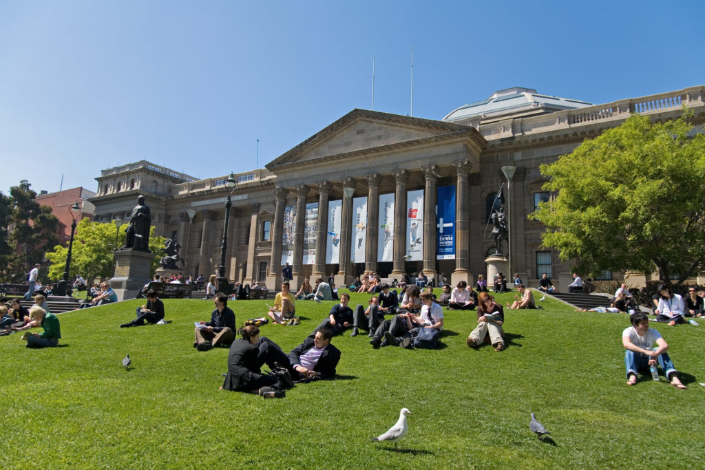state-library-victoria-outside-lawn
