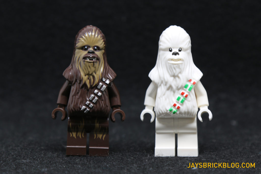 Heres A Comparison Between The Snow Chewbacca And Regular