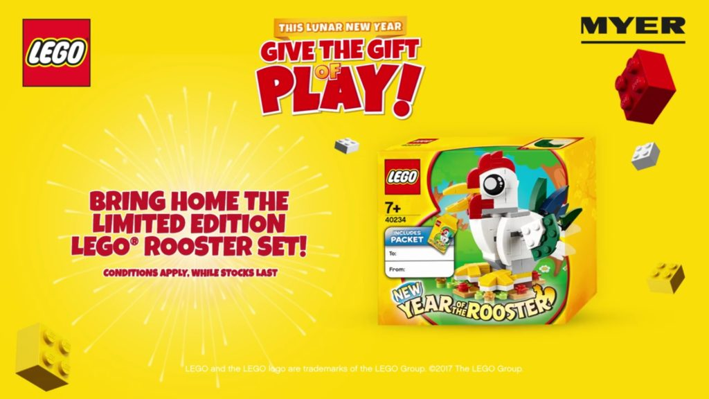 LEGO 40234 Year of the Rooster Promotional Set Now Available in Australia. Kinda.