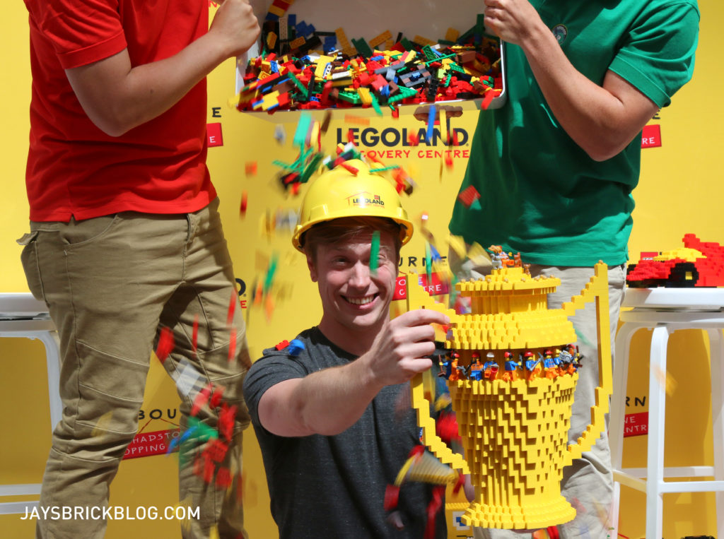 David Holder is crowned Master Model Builder at Legoland Discovery Centre Melbourne