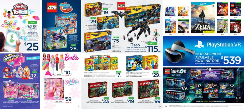 Australian LEGO Sales & New Set Availability March 2017