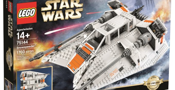 Here's LEGO 75144 UCS Snowspeeder, the new 2017 update of the Rebel Snowspeeder