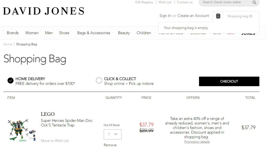 A couple of really good deals at David Jones & Myer [AU]