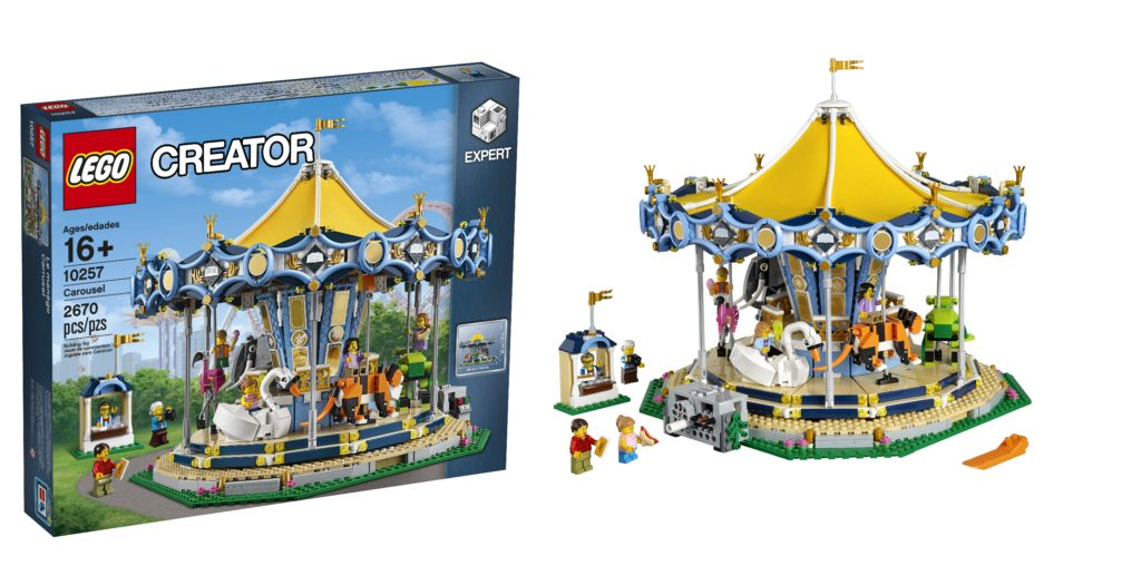 LEGO 10257 Creator Carousel is the latest attraction at the LEGO fairground!