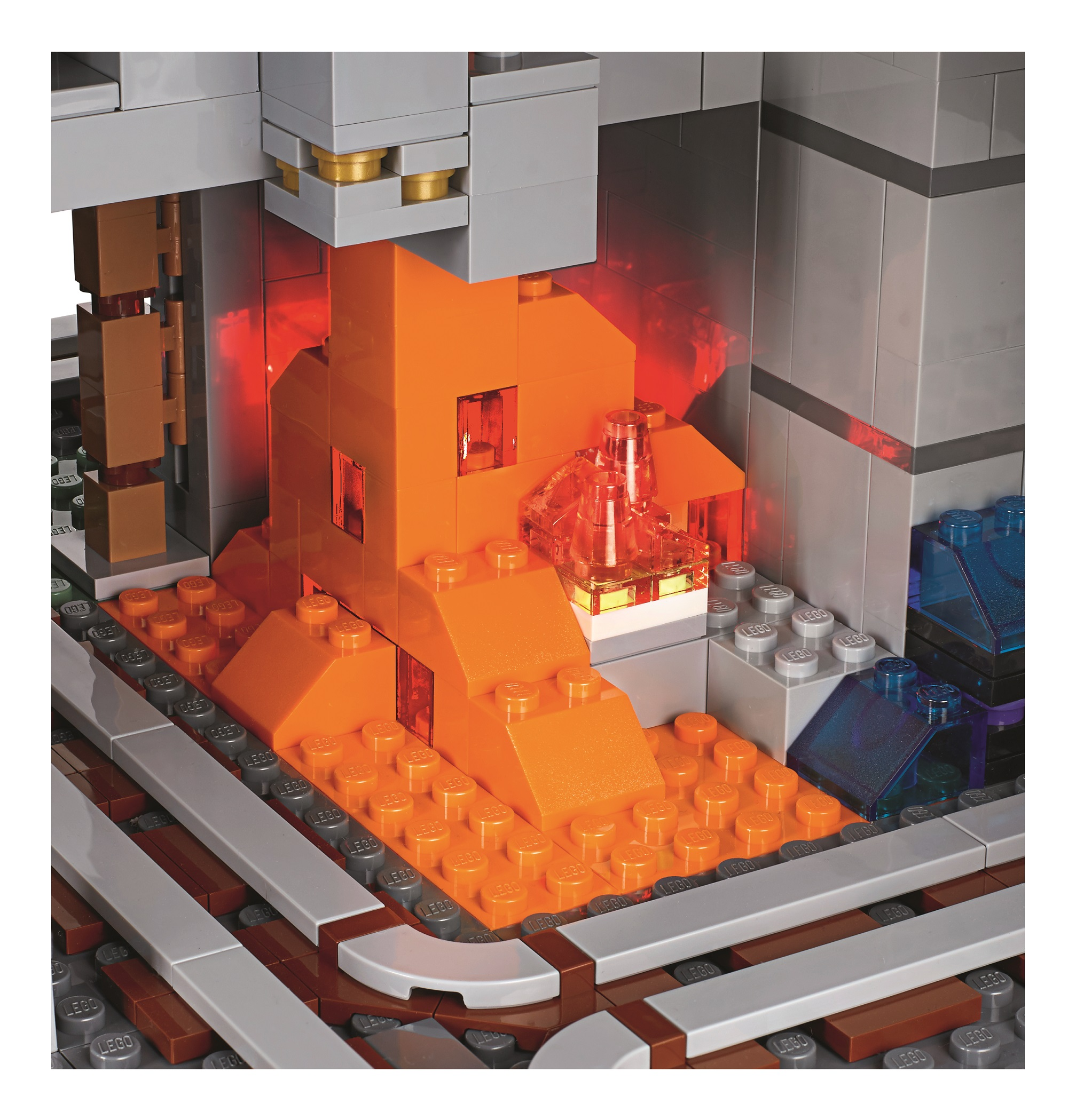 Big Lego Bricks 21137 The Mountain Cave Is The Biggest Minecraft Lego Set  Yet