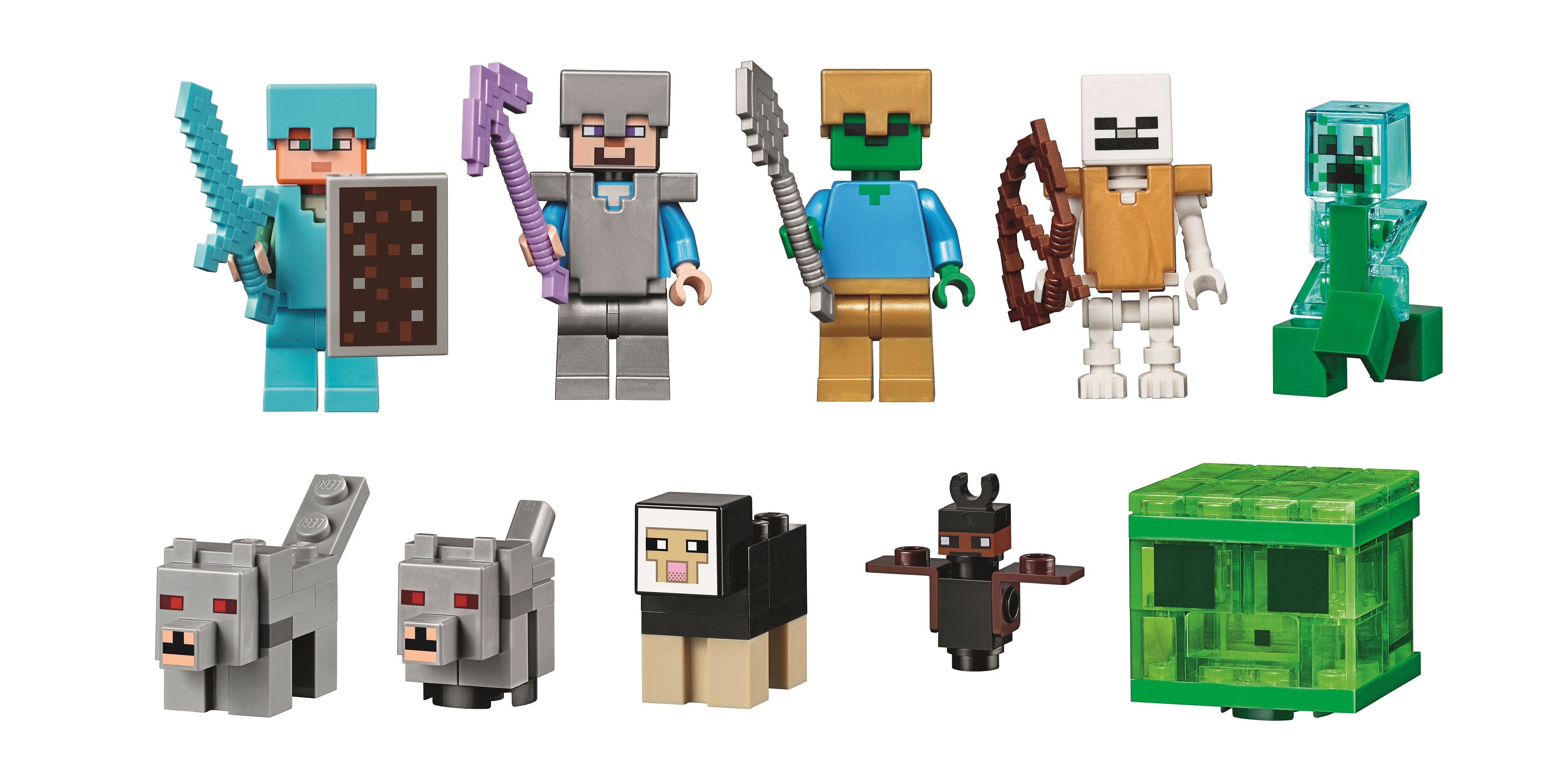 21137 The Mountain Cave is the biggest Minecraft LEGO set yet! for Minecraft Characters Spider  143gtk