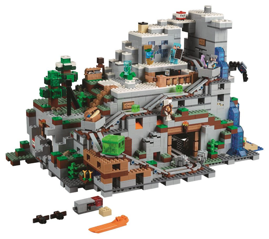 21137 The Mountain Cave is the biggest Minecraft LEGO set yet!