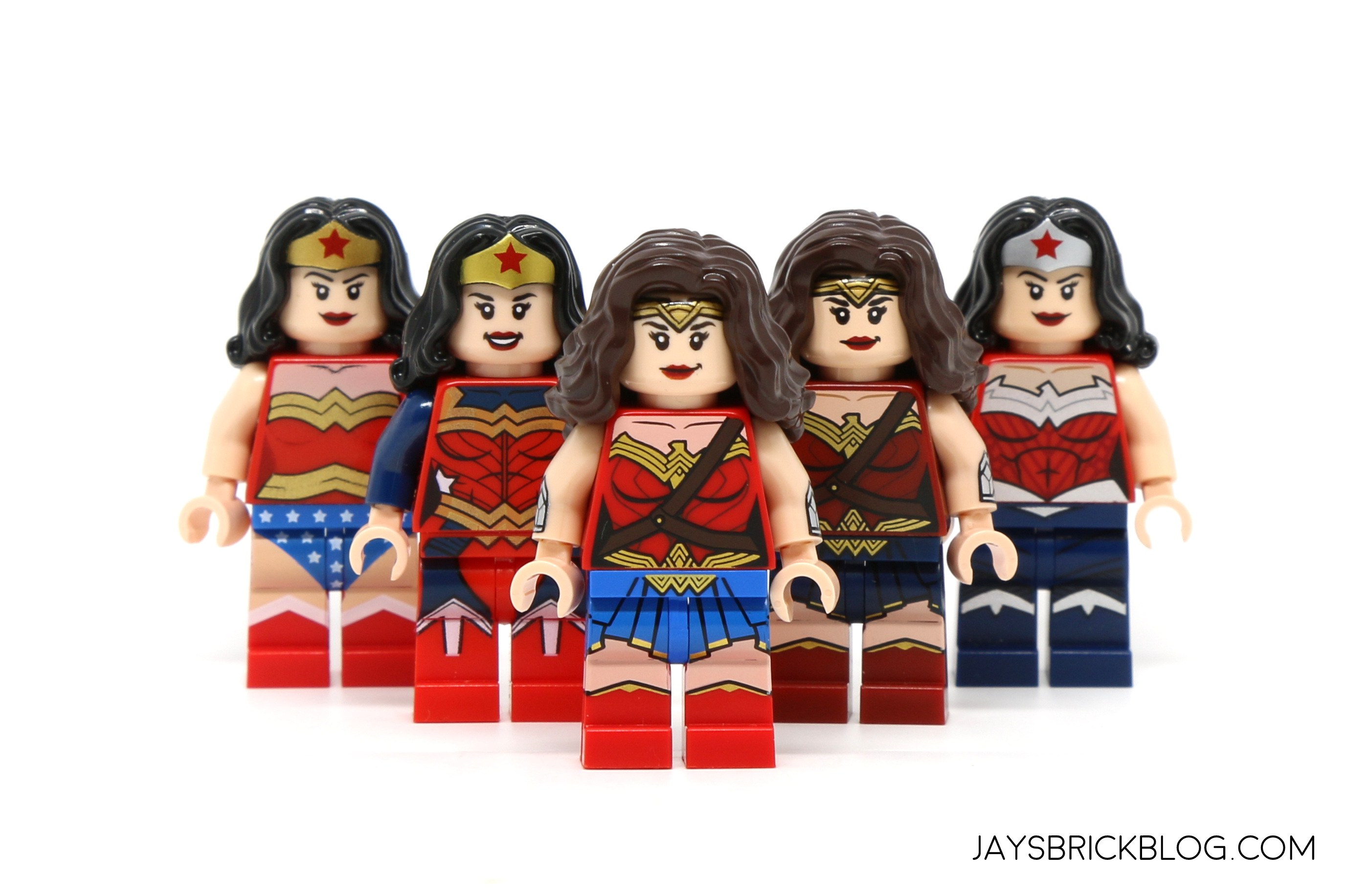 and heres a look at all the wonder woman minifigures minus the mighty micros one at a glance the newest version seems to also share the pink tinge issue - Lego Wonder Woman