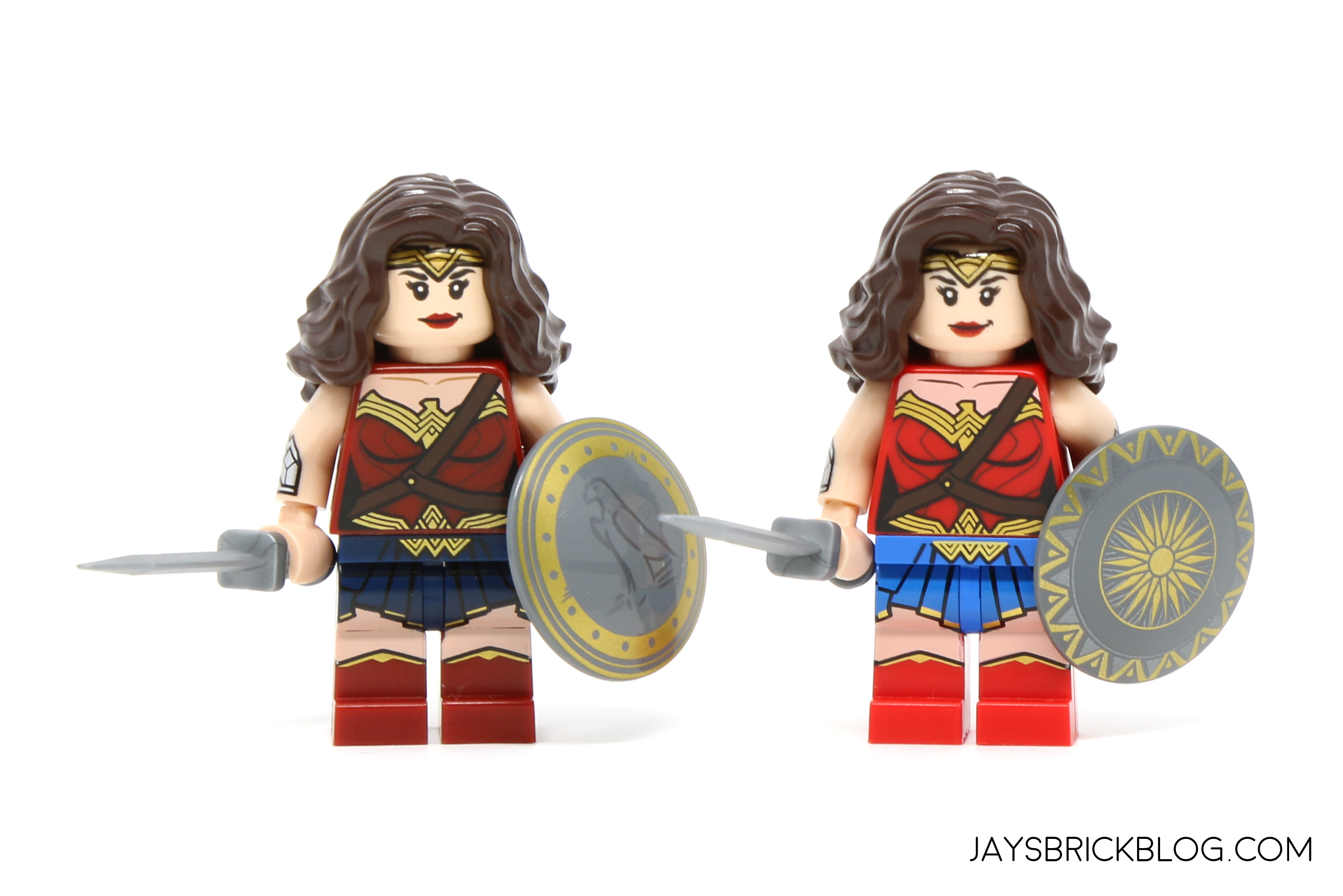 heres a look at the comparison with the previous wonder woman minifigure from the dc cinematic universe the lines are much sharper and more defined on the - Lego Wonder Woman