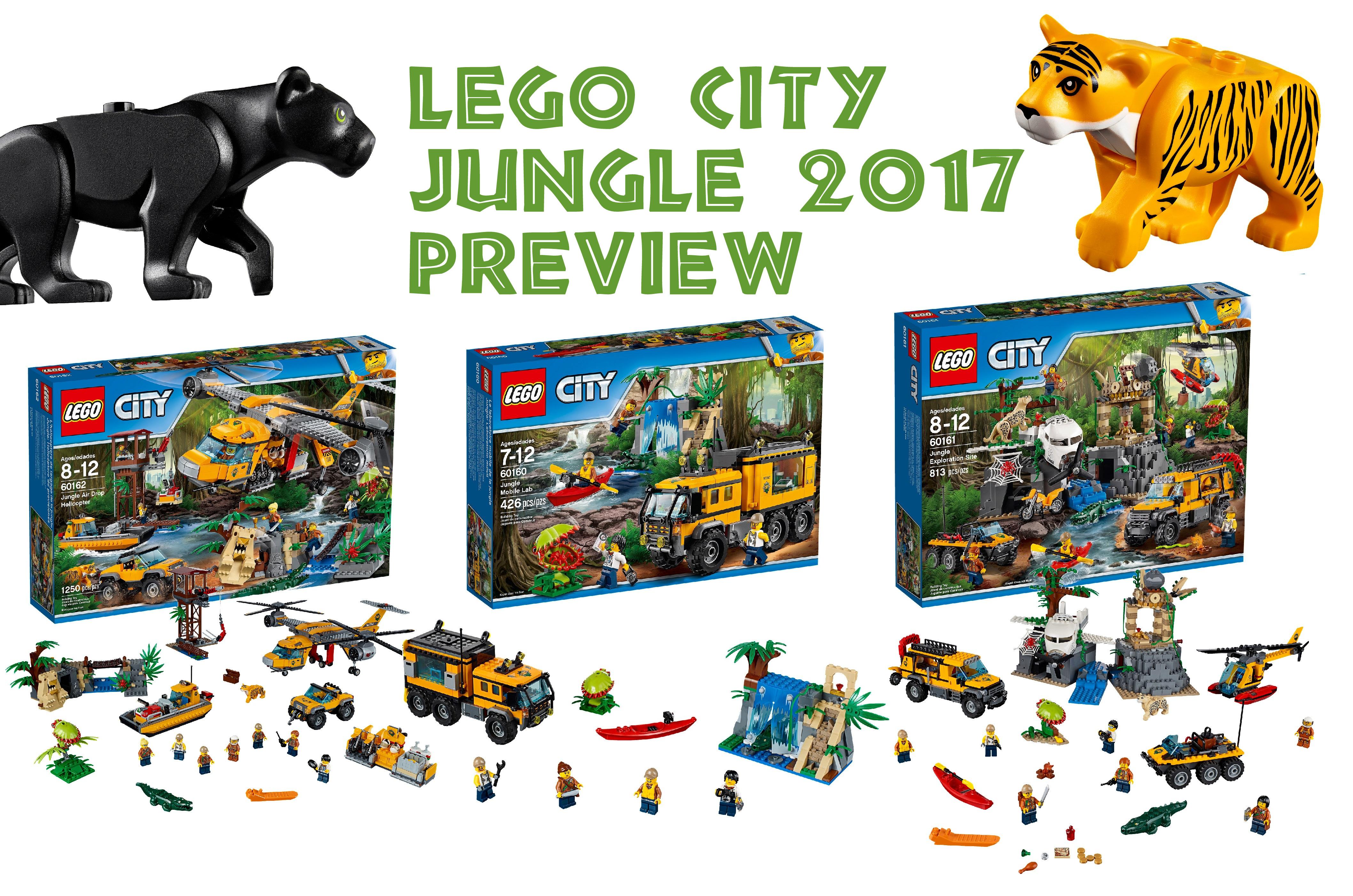 Preview LEGO City Jungle 2017 Sets