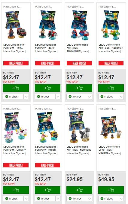 Aus LEGO Sale: Half Priced LEGO Dimensions at EB Games