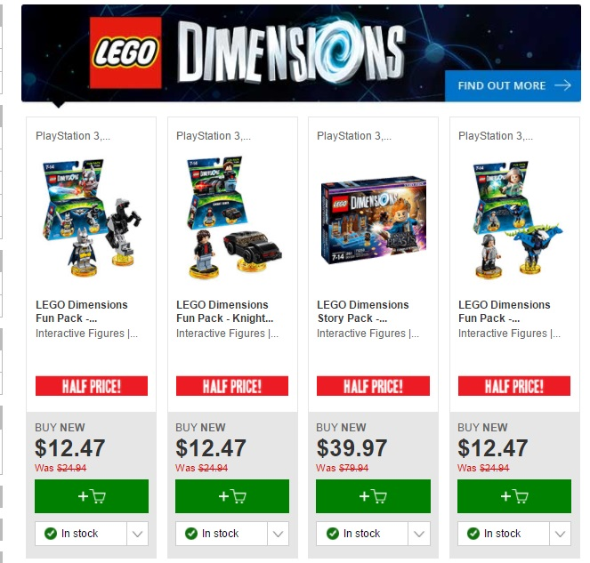 Aus Lego Sale Half Priced Lego Dimensions At Eb Games Jay S Brick Blog
