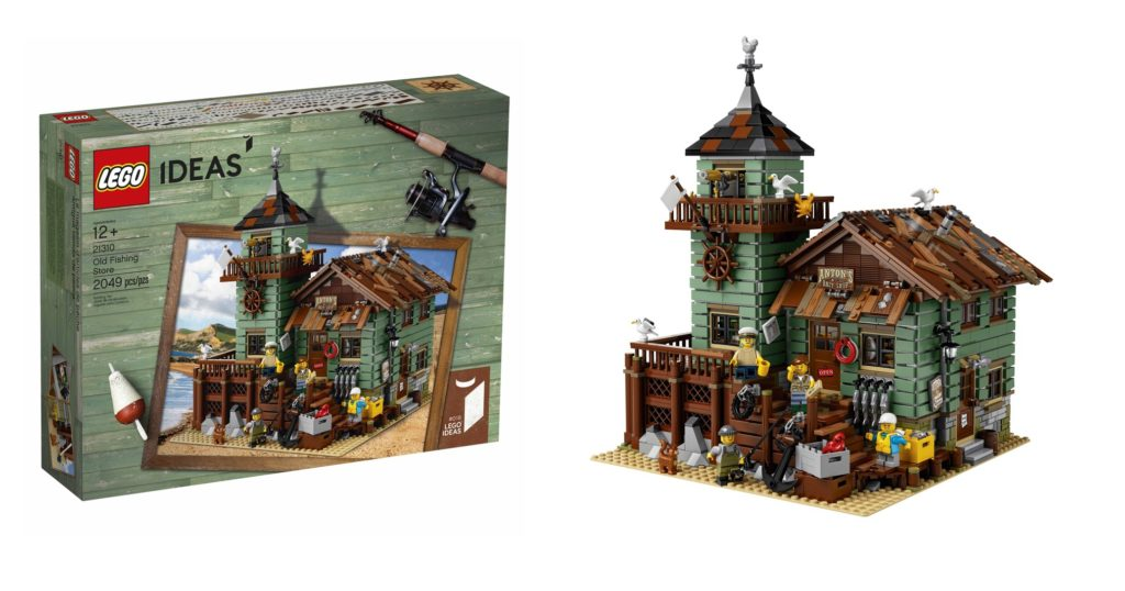The LEGO 21310 Old Fishing Store combines rustic charm with charming design