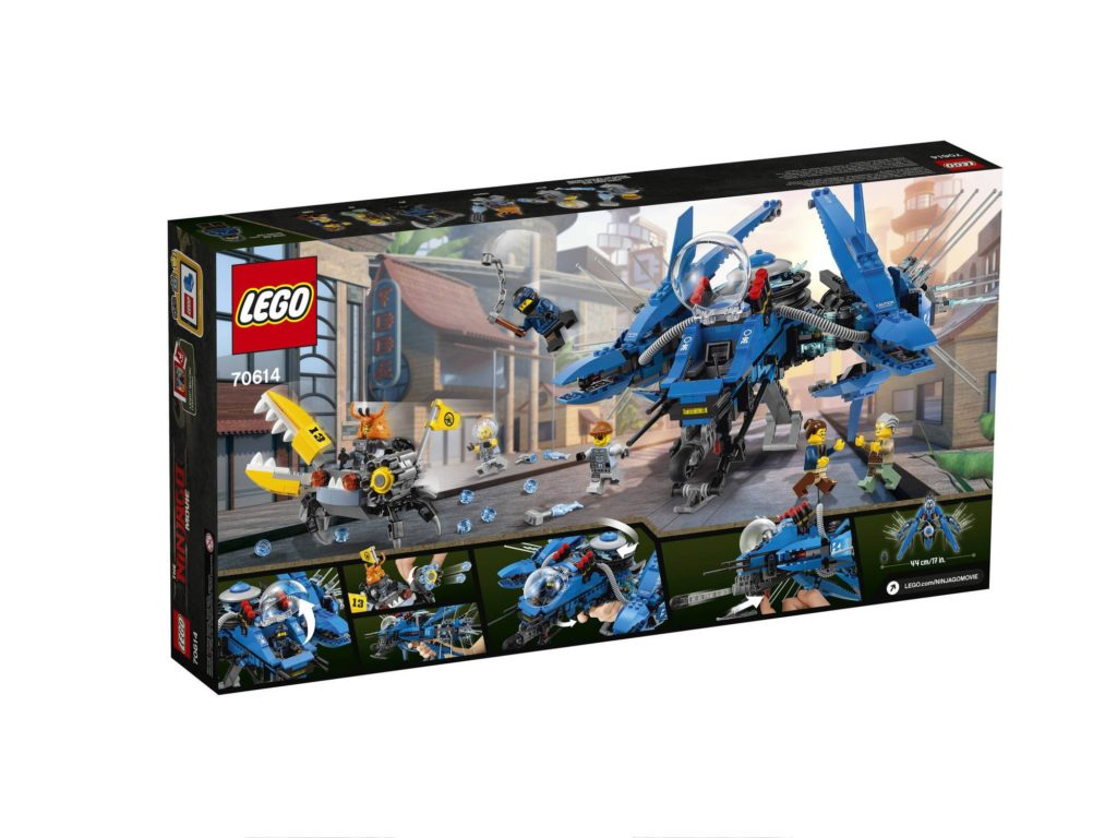 Jay Doesnt Get A Mech But Instead He Gets Sweet Lightning Jet Which Seems Quite Large Coming In At 876 Pieces The Set Includes Whopping 6