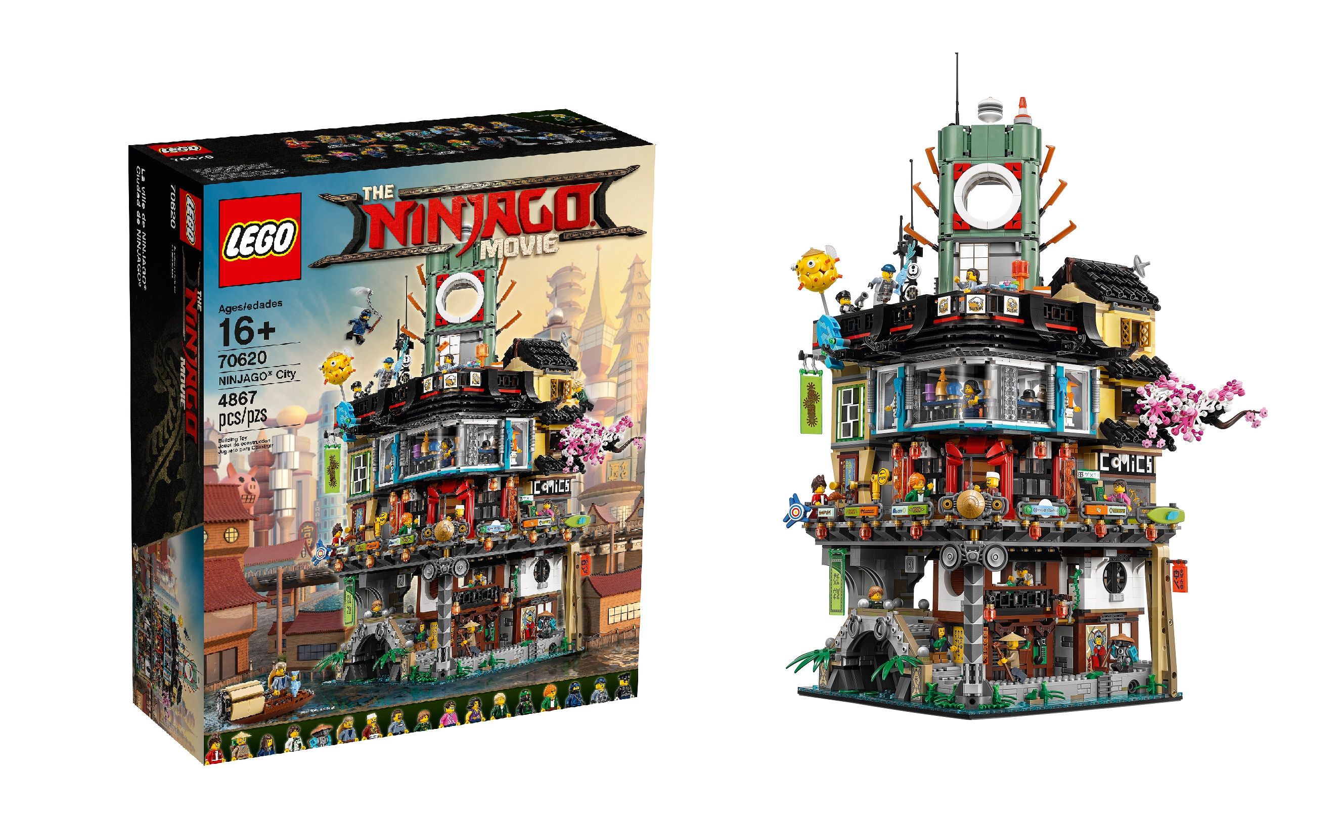 Lego Reveals 70620 Ninjago City The Massive Modular Ninjago Movie