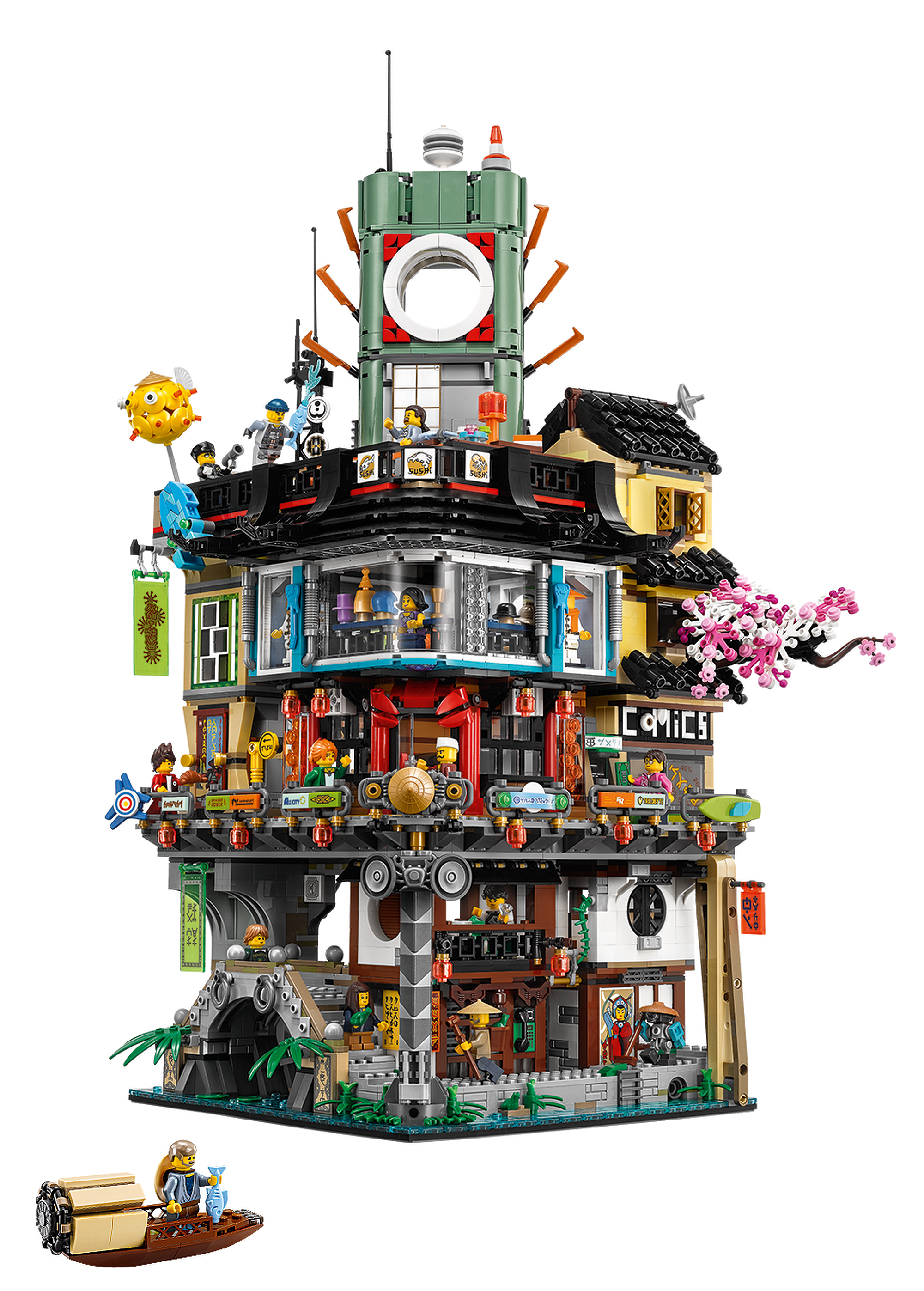 lego reveals 70620 ninjago city the massive modular ninjago movie set. Black Bedroom Furniture Sets. Home Design Ideas