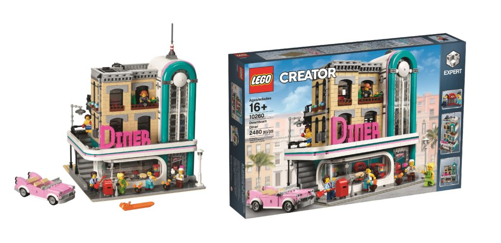 Here's a look at LEGO 10260 Downtown Diner, the first modular building of 2018!