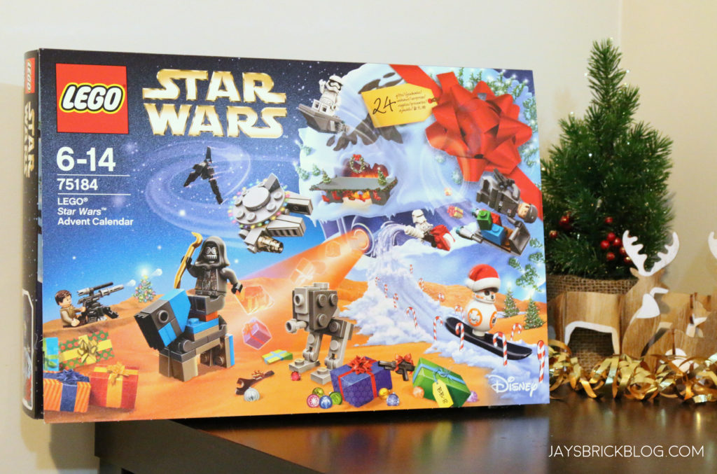 Here s a look at the 2017 Star Wars Advent Calendar box alongside my tiny  Christmas tree. As usual f4b3dbaca113
