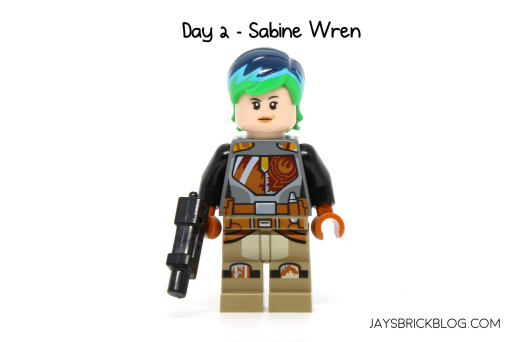 On Day 2 As Predicted Its Star Wars Rebels Themed With A Sabine Wren Minifigure Is One Of The Main Characters In And Perhaps