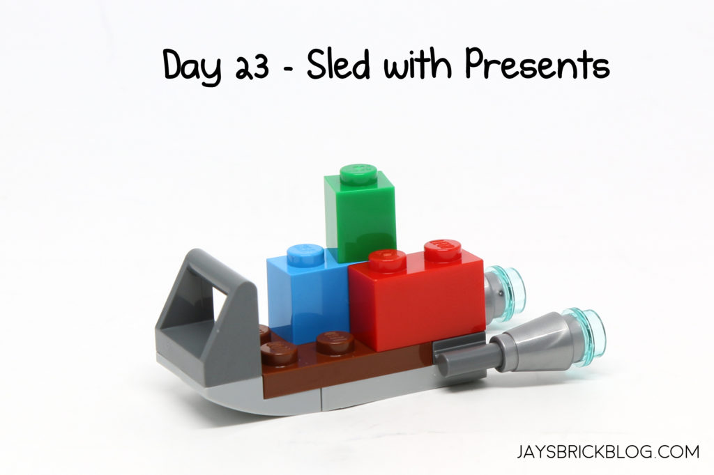 Day 23 Is Our First Real Festive Christmas Build With A Simple Sled Filled Presents Its Nothing Particularly Fancy Just Few Coloured Blocks
