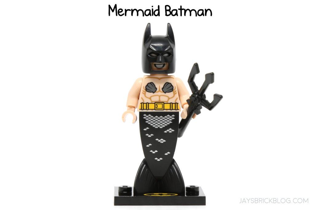 LEGO-MINIFIGURES THE BATMAN MOVIE SERIES 2 X 1 HEAD FOR THE MERMAID BATMAN PARTS