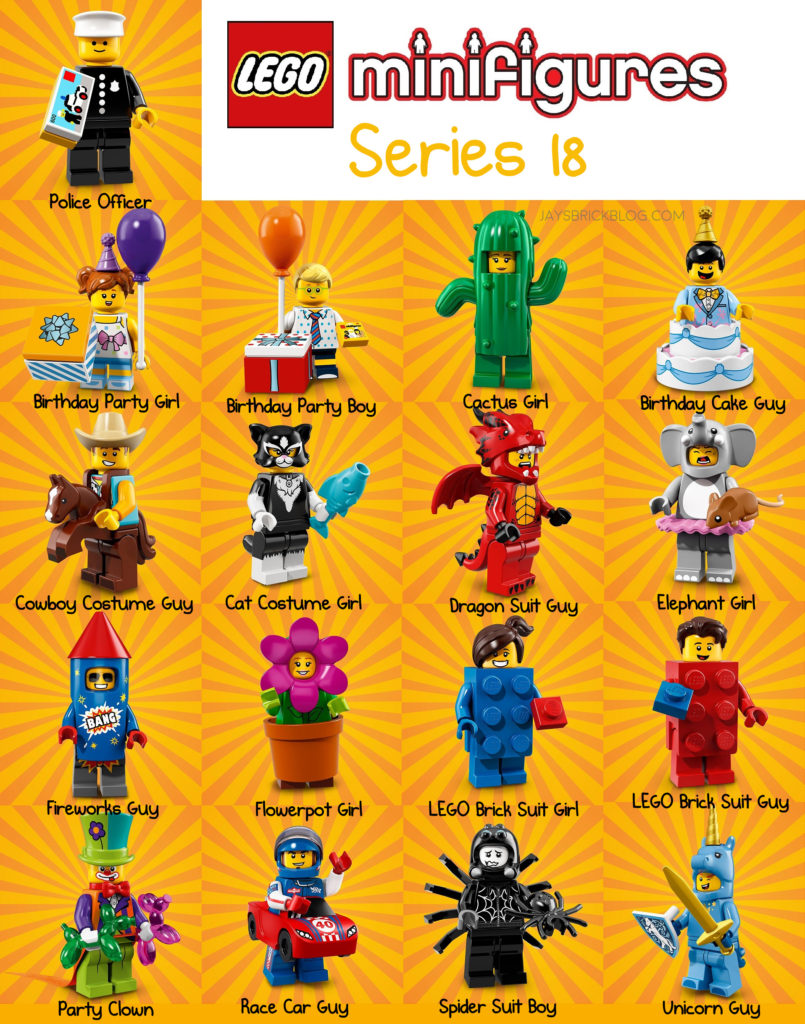 First Photos Of The Party Themed Lego Minifigures Series 18