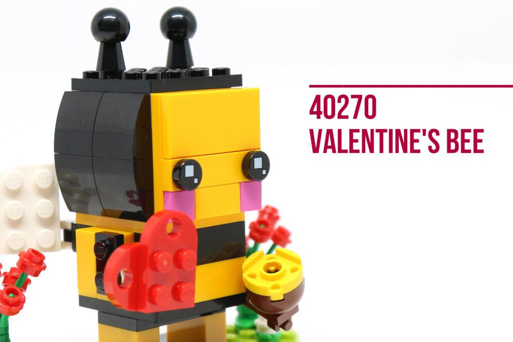 Review: LEGO 40270 Valentine's Bee Brickheadz