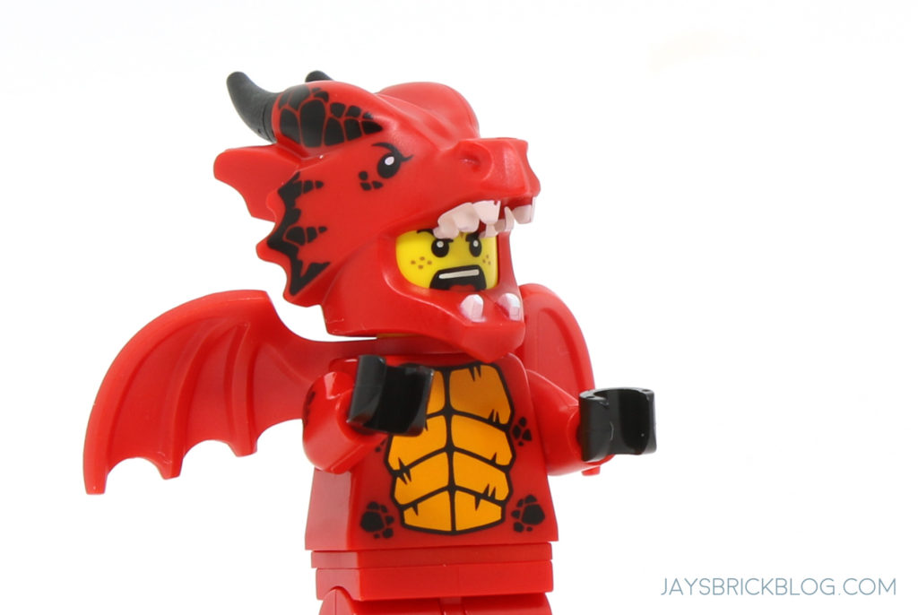 LEGO-MINIFIGURES X 1 HEAD FOR THE Dragon Suit Guy FROM SERIES 18 PARTS