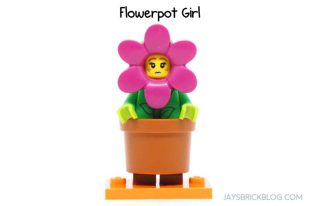 Genuine Lego Mini figure Flower Pot Girl from series 18