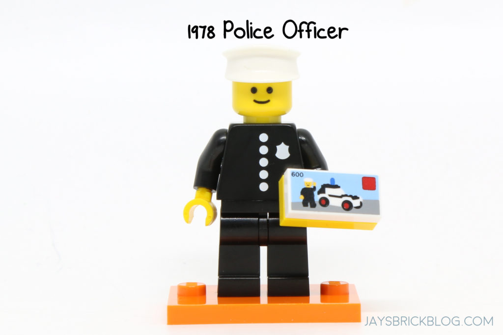 NEW Lego Series 18 Minifigure~40th Anniversary Party CLASSIC POLICE OFFICER~RARE