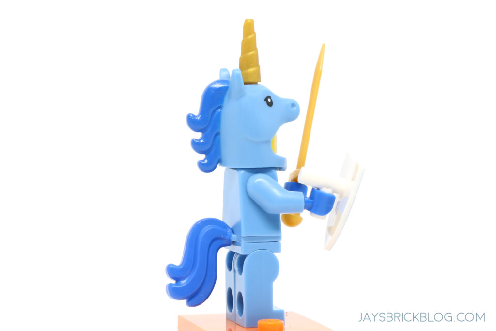 Unicorn Blue Horse Man with Sword Guy Custom Lego Mini Figure Blue suit Girl Boy
