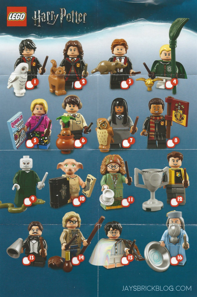 LEGO MINIFIGURES SERIE HARRY POTTER 71022 CHO CHANG NUMERO 7 NUOVO