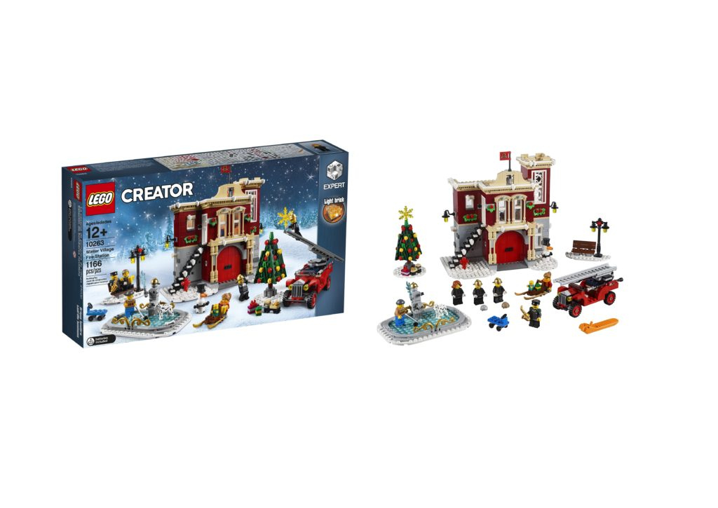 10263 Winter Village Fire Station is your 2018 seasonal Christmas LEGO set!