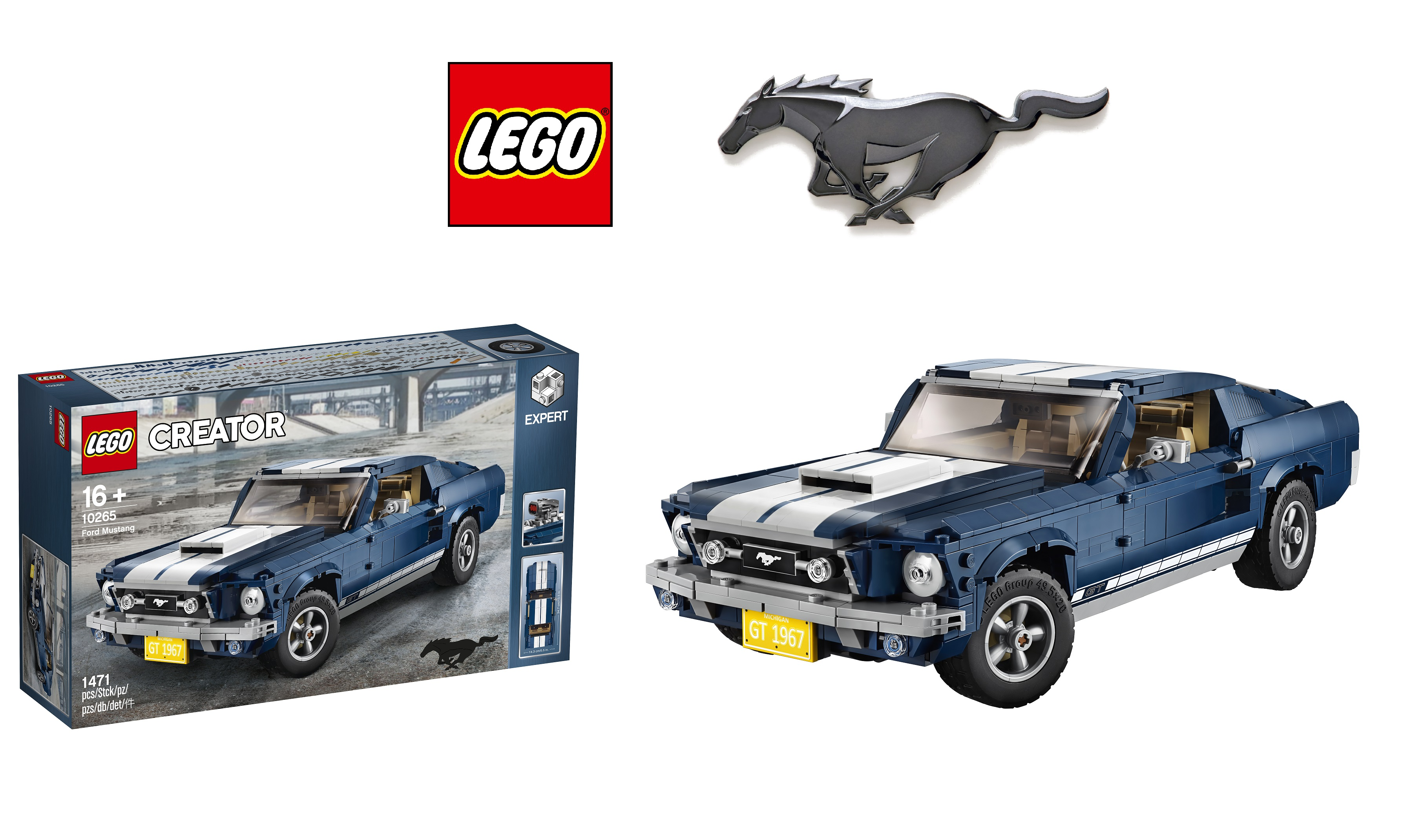 lego officially unveils 10265 ford mustang arguably the. Black Bedroom Furniture Sets. Home Design Ideas