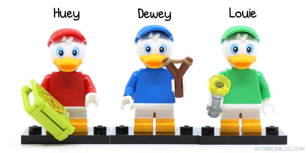 LEGO-MINIFIGURES  DISNEY 2 X 1  HEAD FOR HUEY DUCK OR DEWEY DUCK DISNEY 2 PARTS