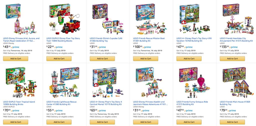 LEGO Amazon Prime Day 2019 Deals Megapost – Jay's Brick Blog