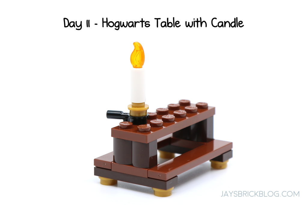 Lego Dinning Table with Candle and Dessert Plate Pie and other food