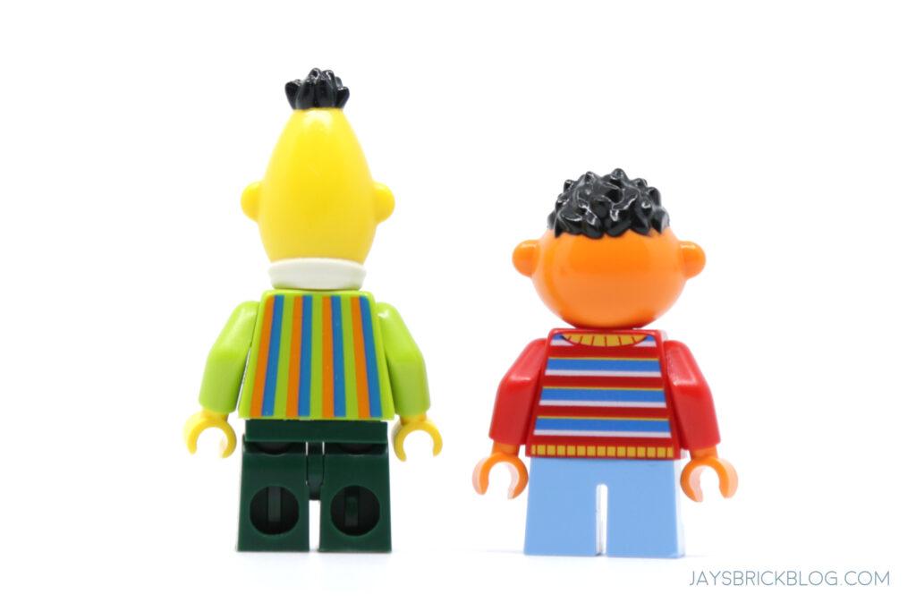 LEGO Bert and Ernie Minifigure Back