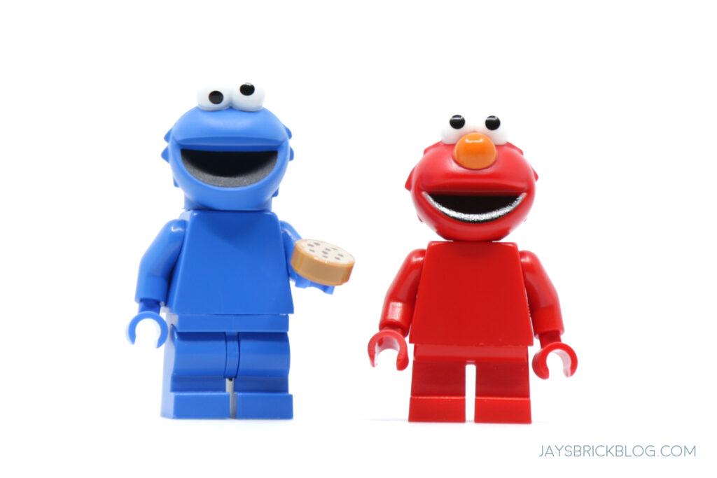 LEGO Cookie Monster and Elmo Minifigure