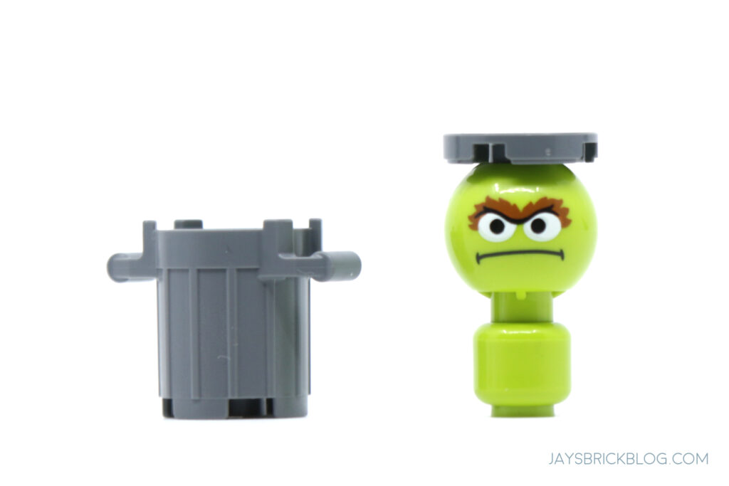 LEGO Oscar the Grouch outside of can