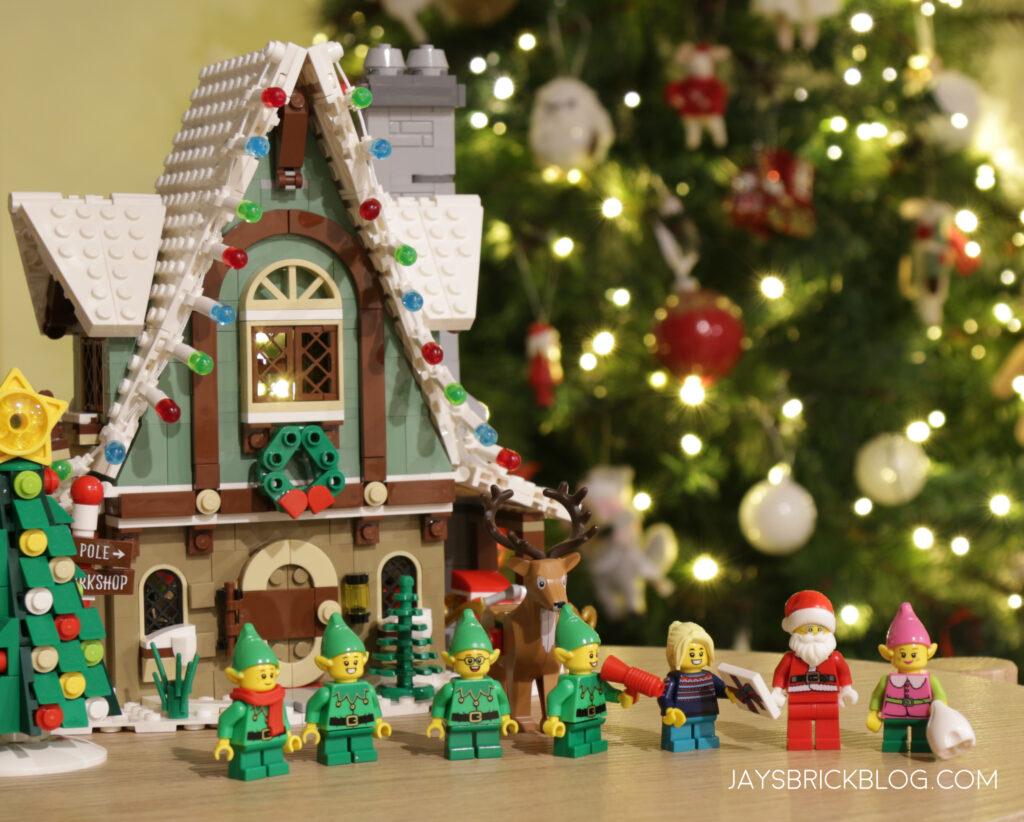 LEGO Elf Clubhouse Christmas Display