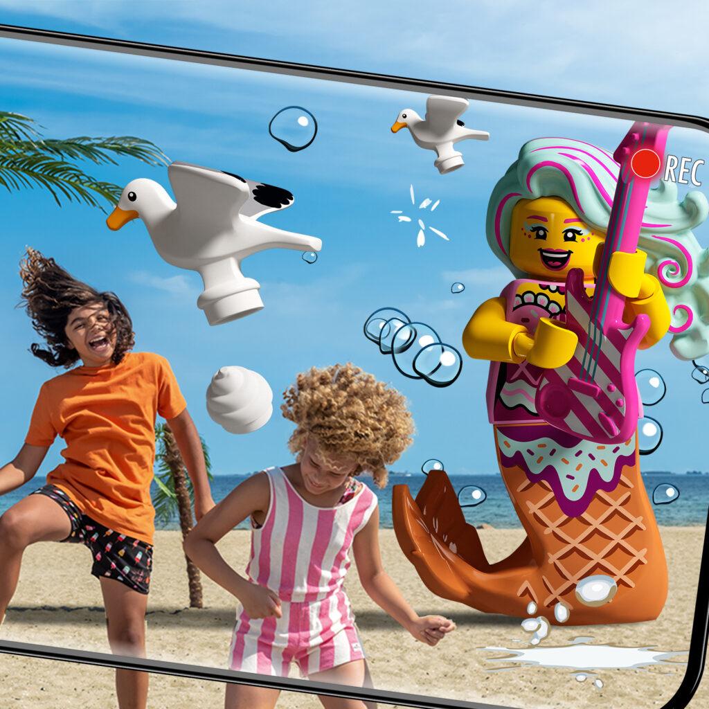 LEGO Vidiyo Character and kids at beach