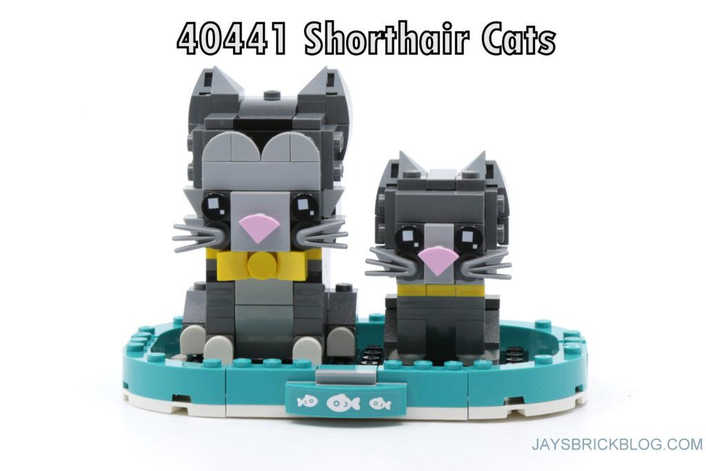 LEGO Brickheadz Pets Wave 1 40441 Shorthair Cats
