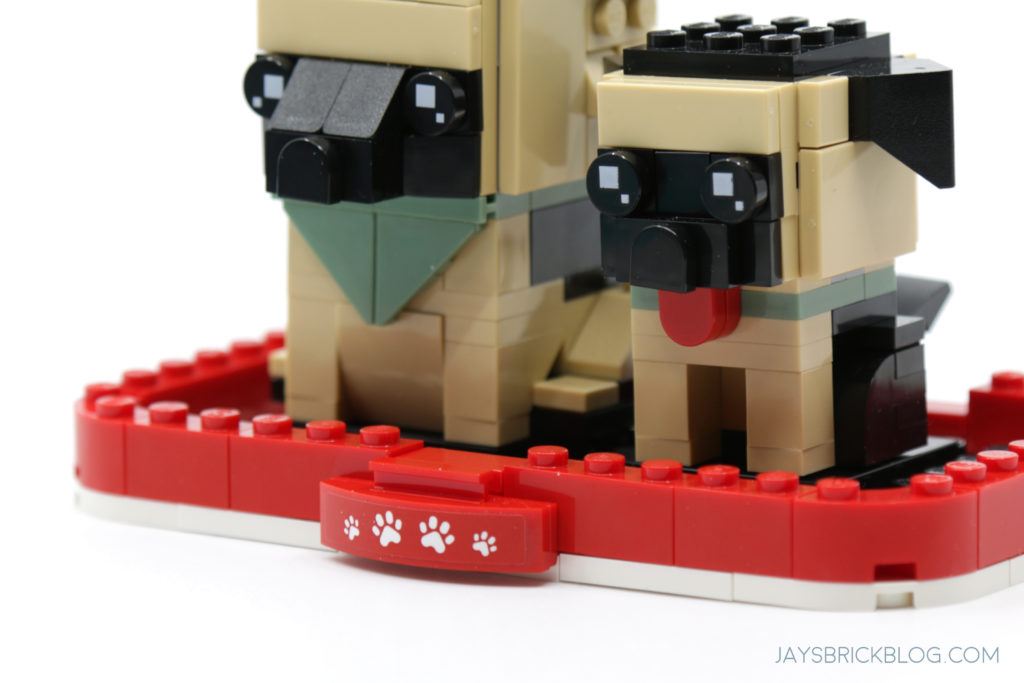 LEGO Brickheadz Pets Wave 1 German Shepherd Alternate Plate