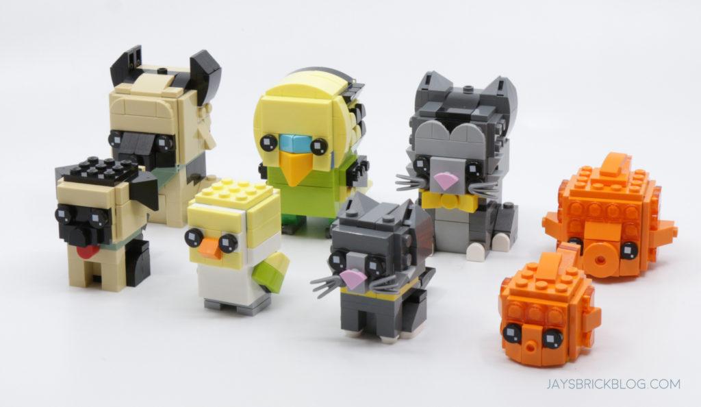 LEGO Brickheadz Pets Wave 1 and 2